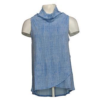Lisa Rinna Collection Women's Top (XXS) Texture Print Tank Blue A309348