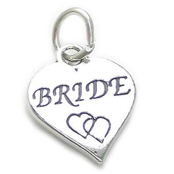 Bride Sterling Silver Charm .925 X 1 Brides Engagement Wedding Charms - 4135