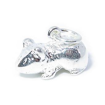 Cochon d'Inde Sterling Silver Charme .925 X 1 Animaux de compagnie Cochons d'Inde Charmes - 8255
