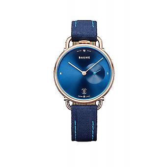 Baume & Mercier BM0A10603 Μπλε καντράν χαλαζία ρολόι