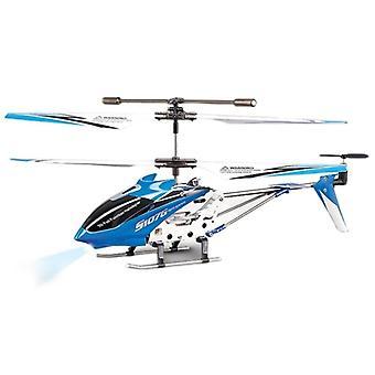 Modrá - Syma S107g 3-kanálový infračervený vrtuľník s gyroskopickým istickým istiom stability