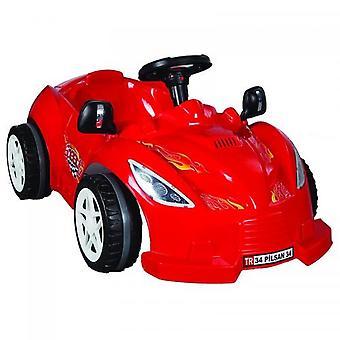 Pilsan børnebil, pedalbil Speedy 07312 i rødt, to udvendige spejle, fra 3 år