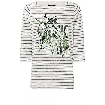 Olsen Striped Floral Design Top