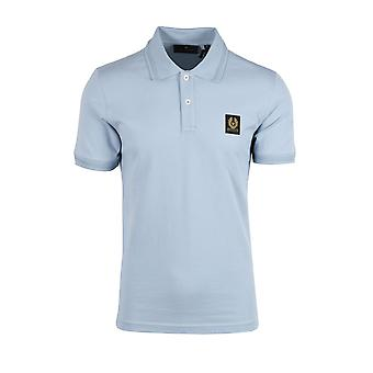Belstaff Short Sleeve Polo Shirt Chalk Blue