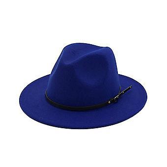 Vintage Solid Color Felt Wide Brim Bowler Fedora Hat