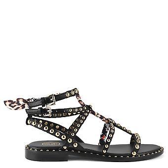 Ash Footwear Patchouli Studded Leather Sandals Black