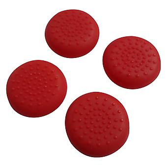 Thumbstick grips for xbox one microsoft controller tpu protective analogue dotted caps - 4 pack red | zedlabz