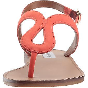 Steve Madden para llevar las mujeres cuero Open Toe Slingback Casual sandalias