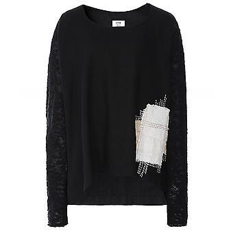 Crea Concept Linen Contrast Sleeve Pullover