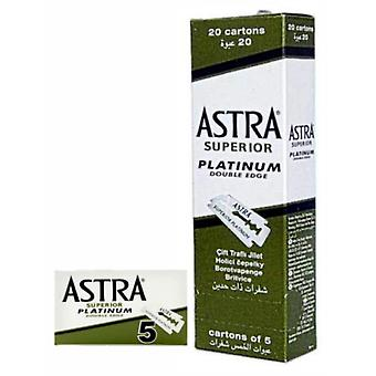 Astra Hochwertige Platinklingen 20X5 100 Stück