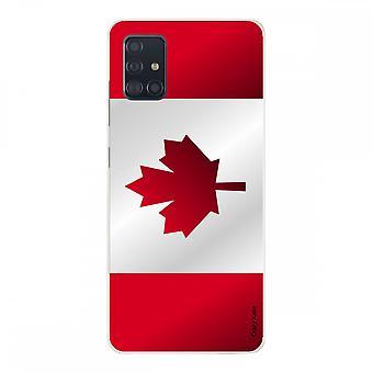 Scafo per Samsung Galaxy A51 in silicone morbido, bandiera canadese