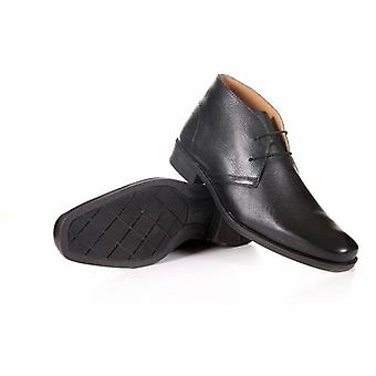 Men's Genuine Leather Casual Black Shoes By Enaaf #clgs08blk