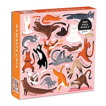 Namaste Cats 500 Piece Puzzle by By artist Susann Hoffmann & Created by Galison