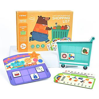 Shopping List Children's Board Game Cognitive Memory Digital Arithmetic Game