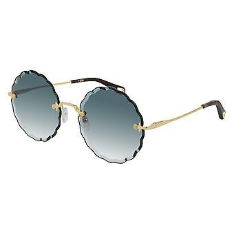 Chloe CH0047S 002 Gold/Blue Gradient Sunglasses
