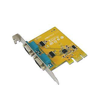 Sunix Ser6437A Pcie 2 Port Serial Rs 232 Card Low Profile
