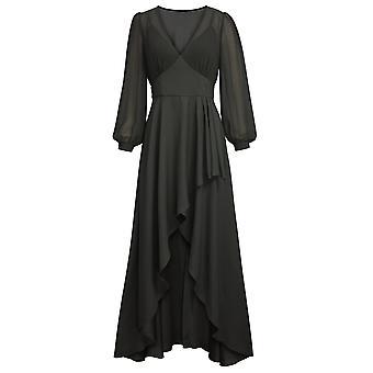 أنيقة نجمة الإمبراطورية الخصر اللباس في الأسود