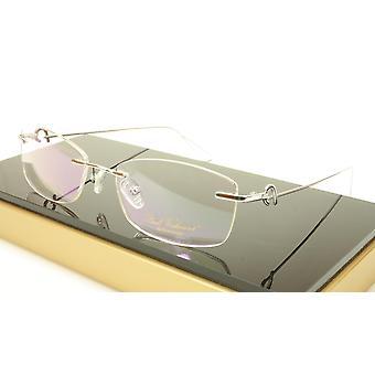 Paul Vosheront VT146 C2 Titanium Silver Rimless Eyeglasses Frame Italy