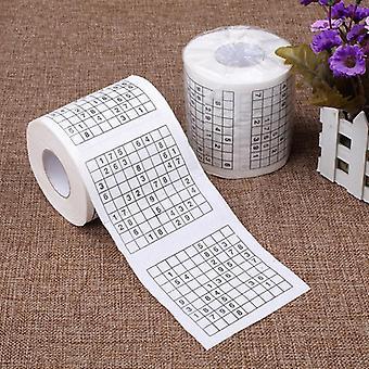 Carta igienica per giochi Sudoku, gioco creativo a 2 ply, tenacia asciugamano resistente.