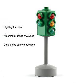 Mini Trafik Skilte Road Light Block med Led Trafik Sikker Uddannelse Learning.