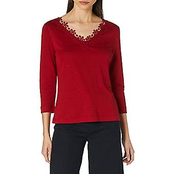 ESPRIT Collection 120EO1K318 T-Shirt, 610/Dark Red, S Woman