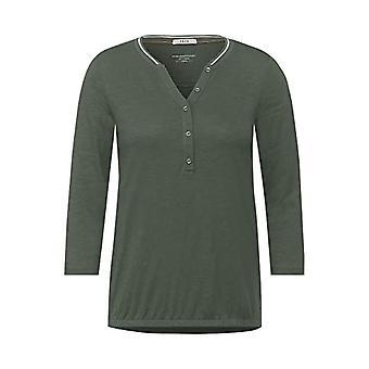 Cecil 315796 T-Shirt, Soft Khaki, X-Large Woman