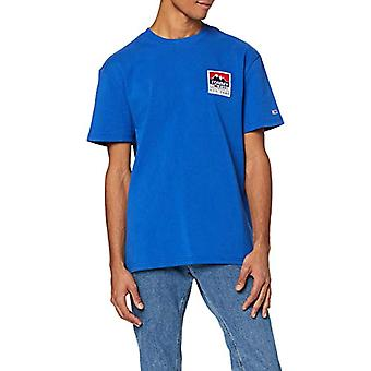 Tommy Jeans Tjm Mountain Back Logo Tee Sports Shirt, Blue (Blue Ckb), Large Man