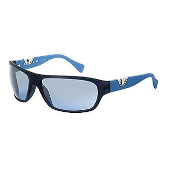 POLICE S1803684AGM Sonnenbrille, Blau, 68 für Männer