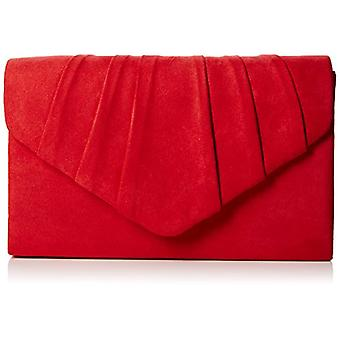 SwankySwans Womens Iggy suede velvet Envelope party Prom clutch clutch, red (Red)), One size