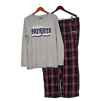 NFL Mujer (XXL) Franela impresa manga larga pijama conjunto gris