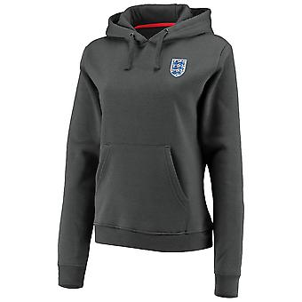 England Football Women's Small Crest Over Head Hoodie   Charcoal