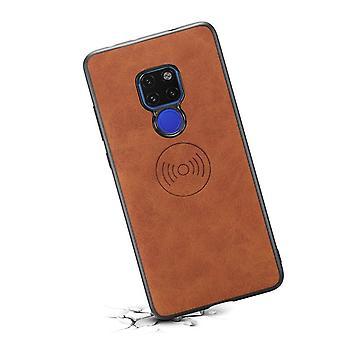 Læderetui med tegnebogskortplads til Huawei P30lite retro brown