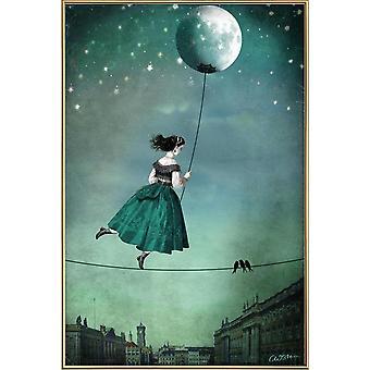 JUNIQE Print - Moonwalk - Dream World Plakat w kolorze niebieskim i szarym