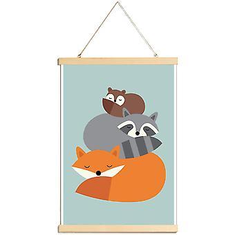 JUNIQE Print - Dream Together - Wildlife Plakat i farverige
