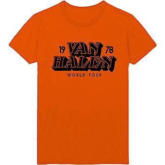 Van Halen - World Tour '78 Men's Large T-Shirt - Orange