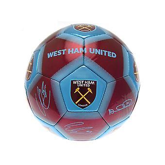 West Ham Signatur Ball Bourgogne Sky Blue Størrelse 5
