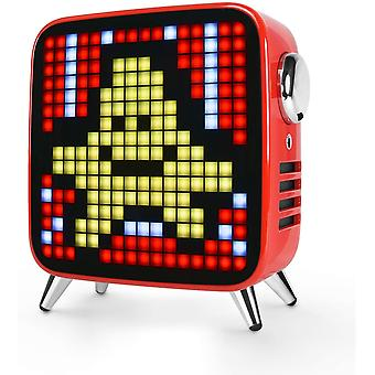 Alto-falante Bluetooth Divoom Tivoo Max Pixel LED Art com potência de saída de 42W, bateria incorporada e aplicativo inteligente, vermelho