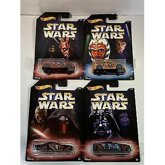 Star Wars 4 bil sett hot hjul 1:64 skala DWD85