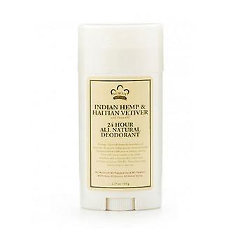 Nubian Heritage Indian Hemp & Haitian Vetiver Deodorant, 2.25 Oz