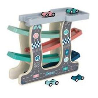 A7712# rampa tor wyścigowy zabawki z drewnianymi mini samochodów dla dzieci i małych dzieci az12742