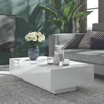 """שולחן קפה vidaXL מבריק לבן 115x60x31 ס""""מ שבב"""
