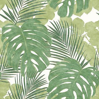 Rasch Portfolio Jungle lämnar gröna tapeter 214628