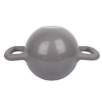 portable Kettlebell Yoga Fitness Equipment,Can Increase Weight By Injecting Water(Gray)
