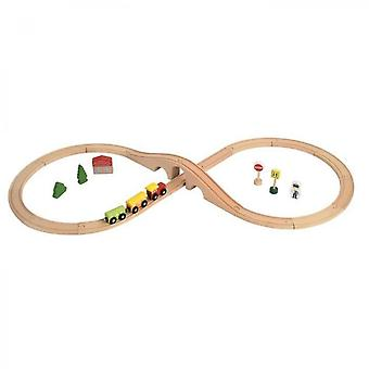Colorichy - Childrens Wooden Train Track
