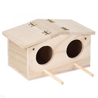 Fából készült kisállat madárfészkek Ház Tenyészketrec