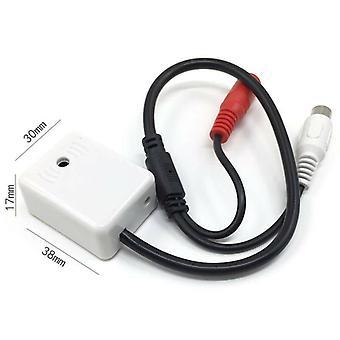 Cctv Cámara Micrófono de audio RCA DC Alta sensibilidad Ganancia Stick-on Mic DVR