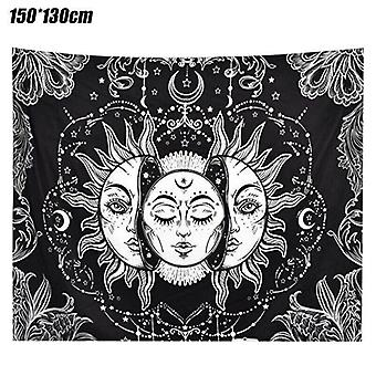 (150*130cm) Tarot Psychedelic Tapestry Wall Hanging Throw Blanket Bedspread Mat Home Decors