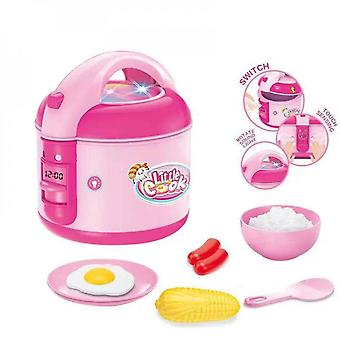 Children's Educational Simulation Electric Rice Cooker Kitchen Play House Small Appliances Toy Set With Tableware