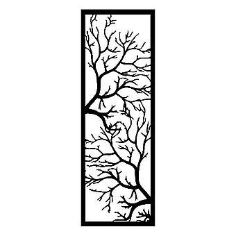 Wanddekoration Baum , Farbe Schwarz aus Metall, L40xP0,15xA115 cm