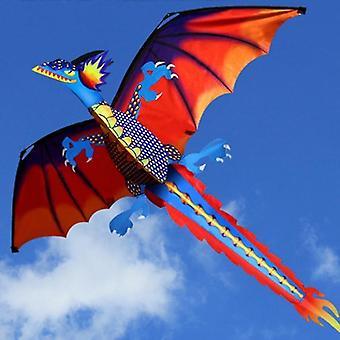 3d Dragon Kite met 100m lijn en staart voor volwassen- outdoor vliegen